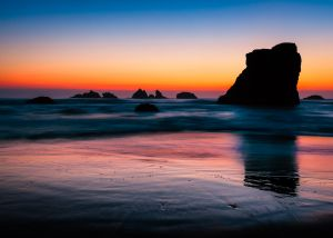 Dusk, Bandon Beach Oregon