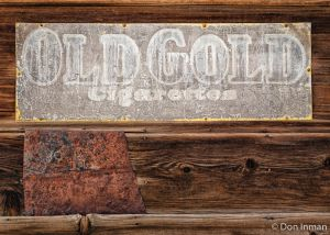 Old Sign and Tin Patch (Bodie No. 6)