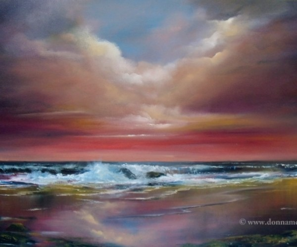 Harmony 20 x 30 Oil on block canvas Irish seascape