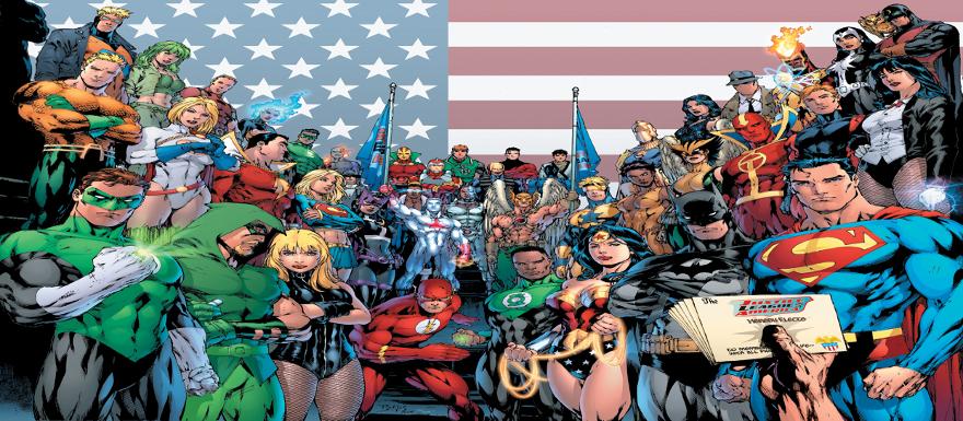 DC Comics Old SChool CONTINUUM SLIDER