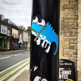 Don't Rain Skateboarding sticker bling lizard
