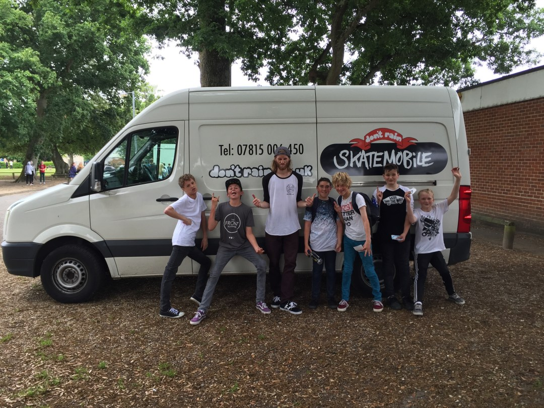 Don't Rain skatemobile learners Hampshire UK