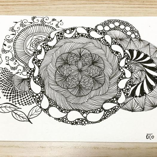#doodlemeditation #doodles #art #zentangle #zen #落書き