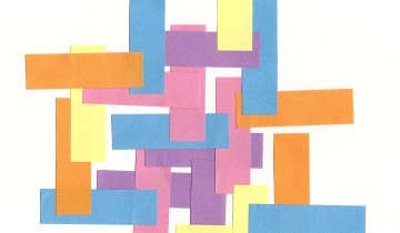abstract created with Post-It flags