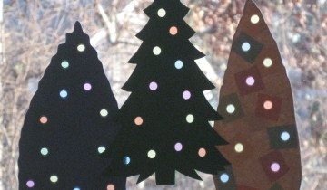 Christmas Tree Craft (construction and tissue paper)