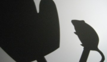 """The Mitten"" shadow puppets"