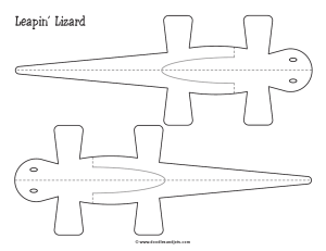 preview of free printable lizard craft template