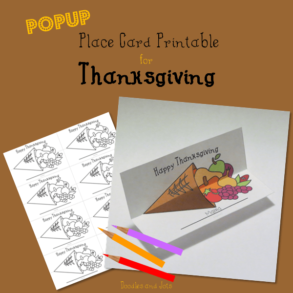 Cornucopia Place Card Printable