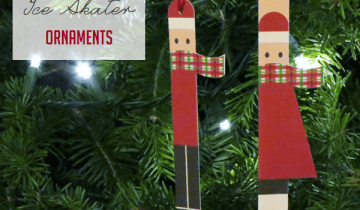 Printable Ice Skater Ornaments