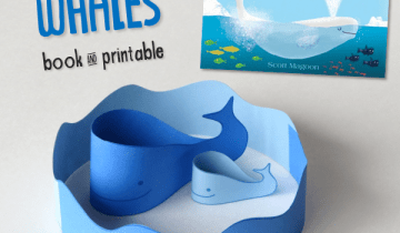 Whales Book & Printable