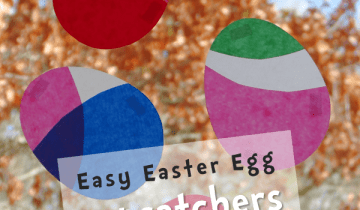 Easy Easter Egg Suncatchers