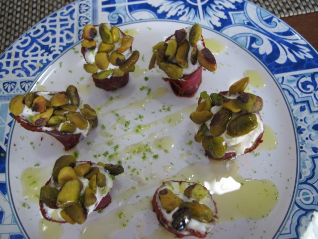 basterma com pistache