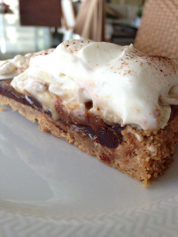 Torta de Banana e Doce de Leite com Ganache de Chocolate
