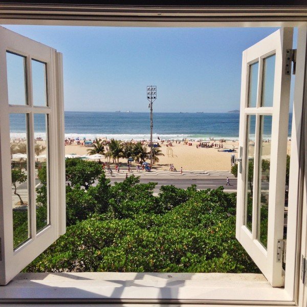 Vista da janela da nossa Suite