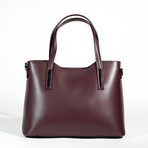 "Letaher Tote bag with two handles ""Sauvage"" calf skin leather"