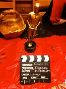 A fake Oscar.