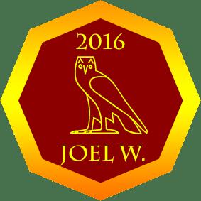 2016 Golden Owl Winner Joel W.