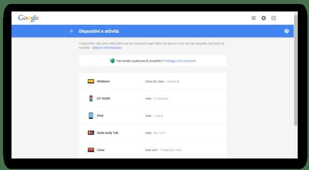 Controllo accessi Gmail con Gestione dispositivi Android