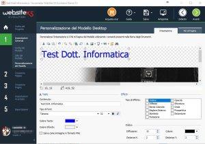 website x5 personalizzazione del modello desktop