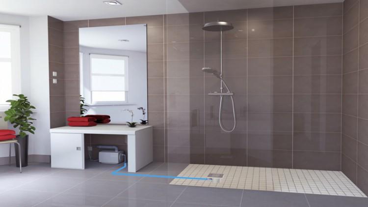 douche italienne installer sanifloor saf pour evacution. Black Bedroom Furniture Sets. Home Design Ideas