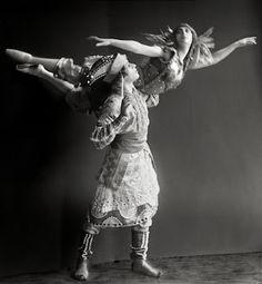 "Tamara Karsavina and Adoph Bolm in ""Firebird"", 1911"