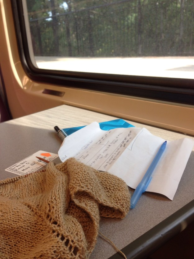 Train knitting