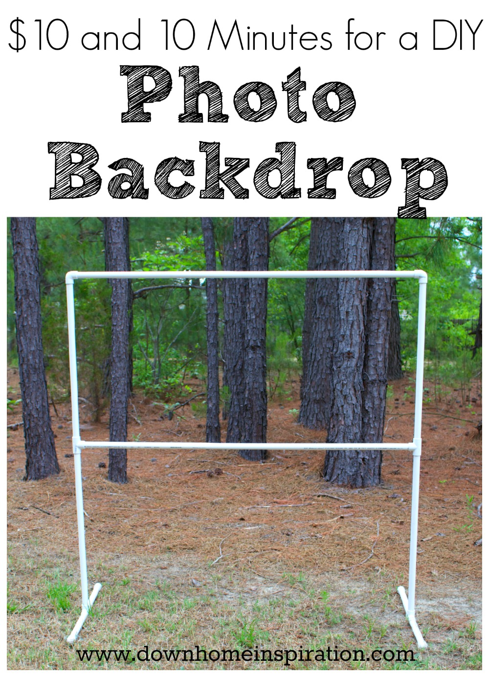 10 and 10 minutes for a diy photo backdrop down home for Home inspiration