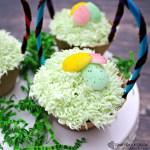 Adorable Easter egg basket cupcakes!