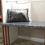How we Made a Built in Granite Bench for FREE!