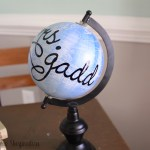 Budget Friendly Personalized Globe Teacher's Gifts