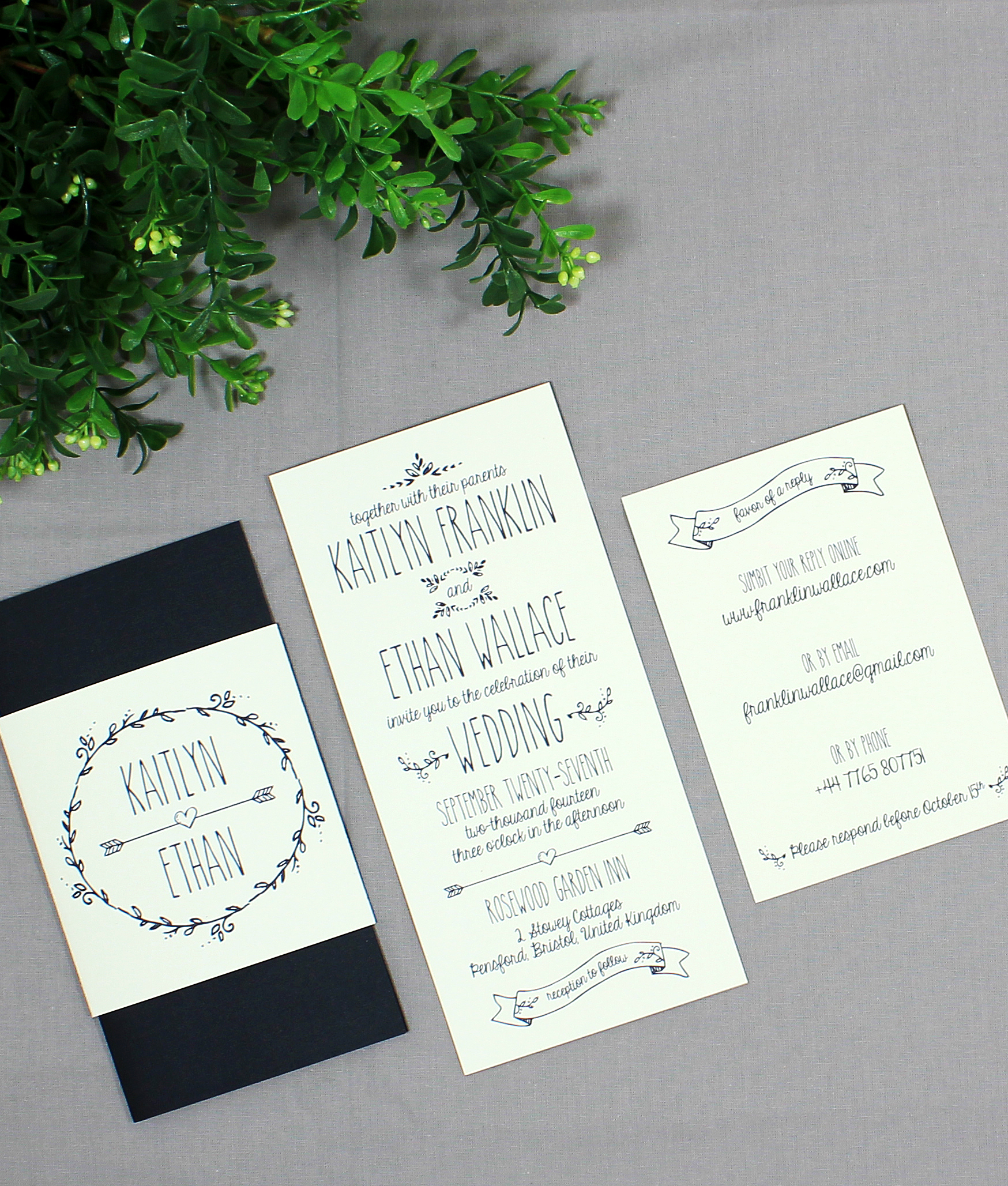 Fullsize Of Wedding Rsvp Cards