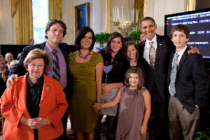 President Obama & Senator Mikulski with Rosa's family at bill signing ceremony.