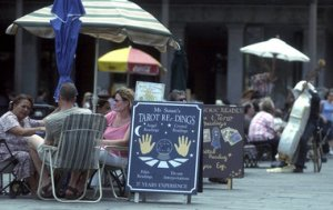 Tarot card readers in Jackson Square, New Orleans. photo credit: Jennifer Zdon, The Times-Picayune archive