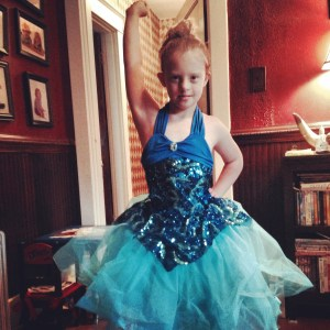 Juliet, before her first dance recital