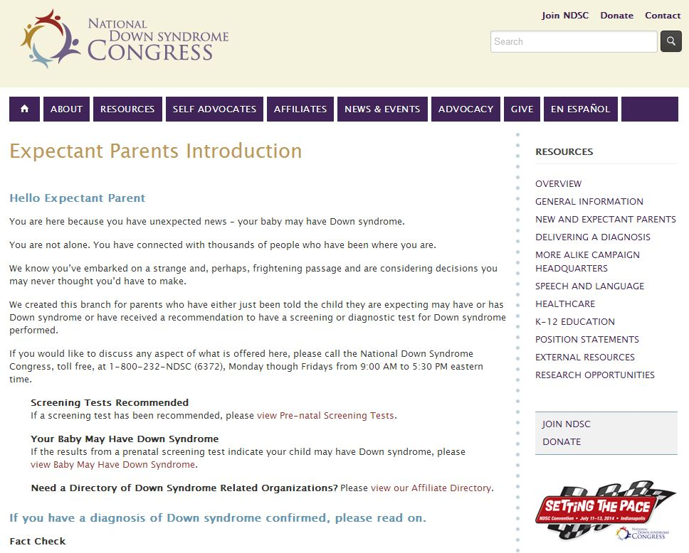 NDSC Expectant Parent Home Page