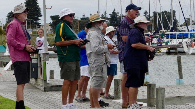 There was great banter on the shore between skippers. Photos: Chris Caffin