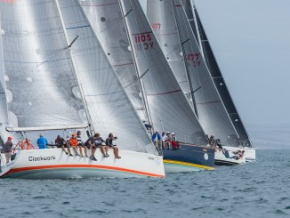 The long race started in good breeze but lightened off later in the day. Photos: Take 2 Photography