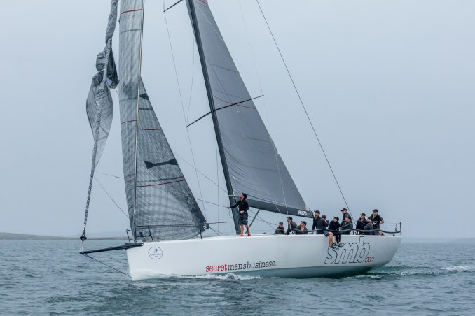 Although they tangled a code zero, Secret Men's Business managed an IRC race win. Photos: Take 2 Photography