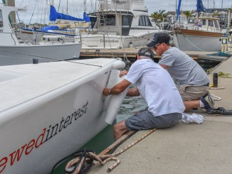 Crews getting set for the Melges 24 nationals in Port Lincoln.