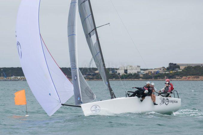 Sandy Higgins' Scorpius enjoyed the heavier winds. Photos: Ally Graham