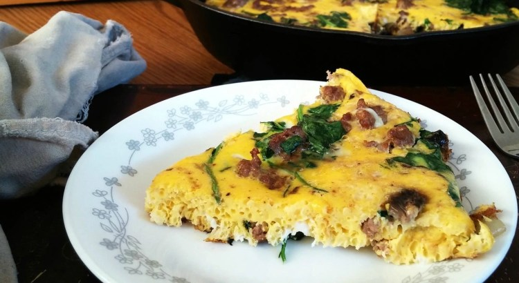 Spinach Sausage and Mushroom Frittata
