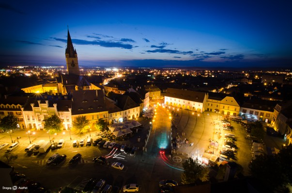 #PrinSibiulMeu - Sibiul fotografiat noaptea