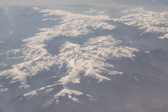Carpații Meridionali fotografiați din avion la final de iarnă 4