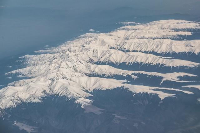 Carpații Meridionali fotografiați din avion la final de iarnă 6