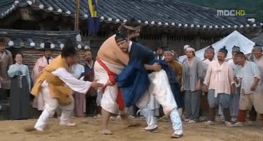 king sukjong tries ssireum