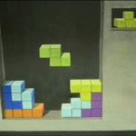 Tetris 3D Chalk Art