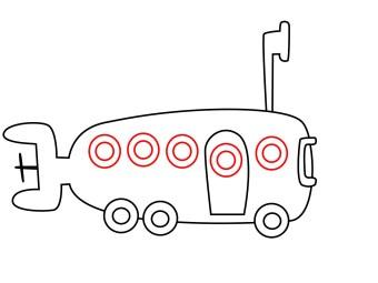 How To Draw Spongebob Bikini Bottom Bus - Draw Central