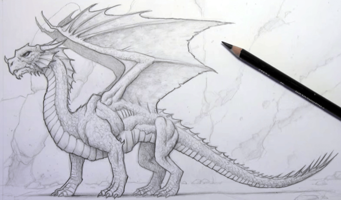 How To Draw A Dragon Video Draw Central