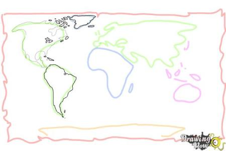 Map drawing tutorial how to draw a world map step 6 gumiabroncs Choice Image