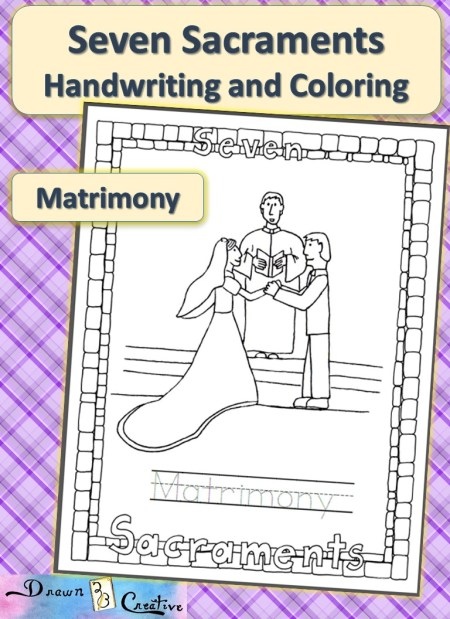sacraments of the catholic church coloring pages - photo #11